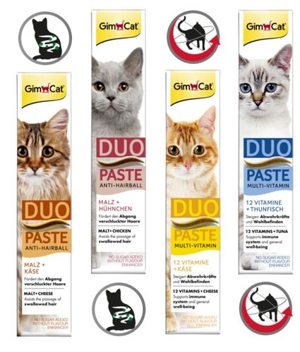 GimCat Duo-Paste Multi-Vitamin 12 Vitamine + Thunfisch